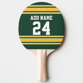 Le football Jersey avec le nombre nommé fait sur Raquette De Ping Pong