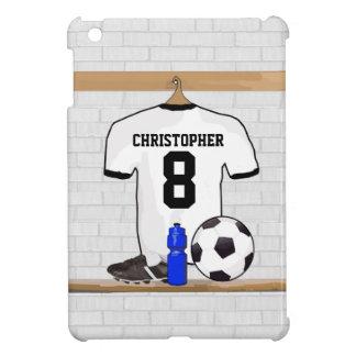 Le football Jersey noir blanc personnalisé du Étuis iPad Mini