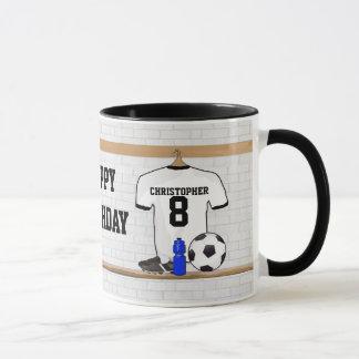 Le football Jersey noir blanc personnalisé du Mugs