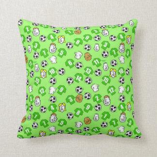 Le football orienté avec des chemises en vert coussin