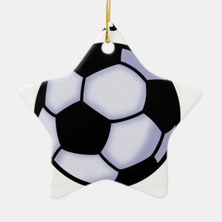 le football ornement étoile en céramique