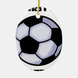 le football ornement ovale en céramique