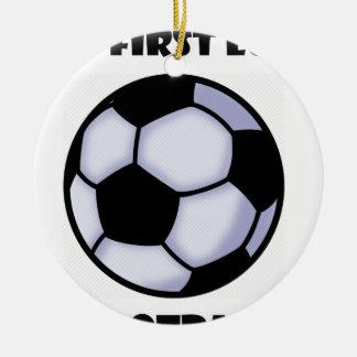 le football ornement rond en céramique