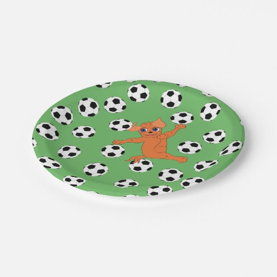 Le football par Happy Juul Company Assiettes En Papier