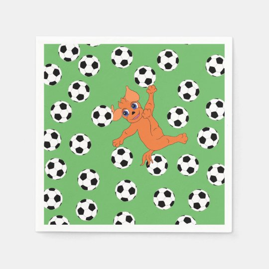Le football par Happy Juul Company Serviette Jetable