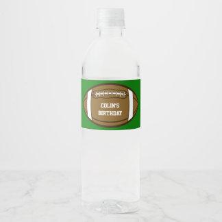 Le football personnalisé pour les garçons qui étiquette pour bouteilles d'eau