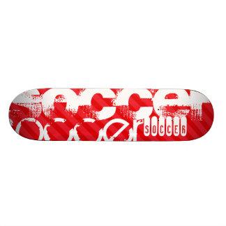 Le football ; Rayures de rouge d'écarlate Skateboard 21,6 Cm