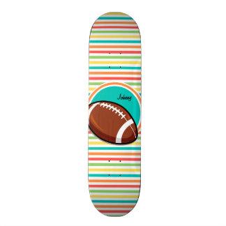 Le football Rayures lumineuses d arc-en-ciel Plateaux De Skateboards
