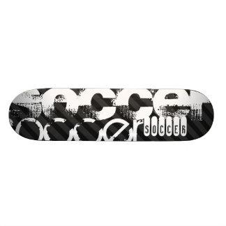 Le football ; Rayures noires et gris-foncé Skateboard 19,7 Cm