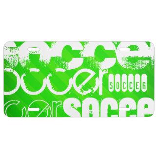 Le football ; Rayures vertes au néon