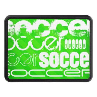 Le football ; Rayures vertes au néon Couverture Remorque D'attelage
