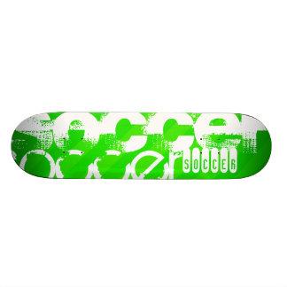 Le football ; Rayures vertes au néon Skateboard Old School 21,6 Cm