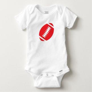 Le football rouge avant du blanc   de BÉBÉ du T-shirt