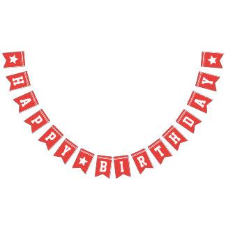 Le football rouge Jersey - fête d'anniversaire de Bannière À Fanions