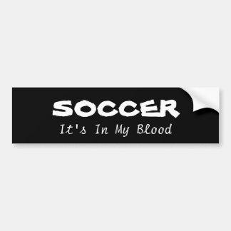 Le football : son dedans mon sang autocollant de voiture