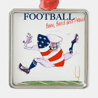 Le football soutenu a multiplié les fernandes ornement carré argenté