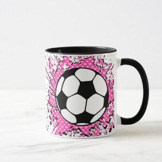 le football splat. mug