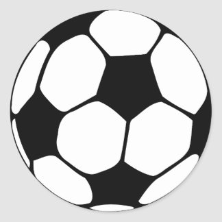 Le football sticker rond