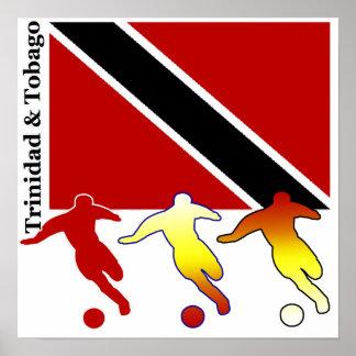 Le football Trinidad et affiche du Tobago