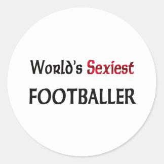 Le footballer le plus sexy du monde adhésifs ronds