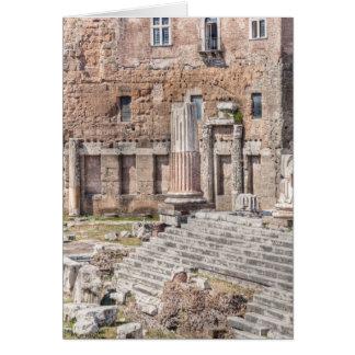 Le forum d'Augustus est l'un des 4 impériaux Carte De Vœux