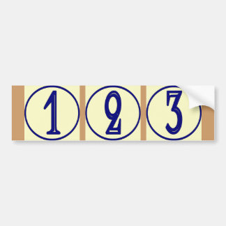 Le Français numérote le signe de numéros de maison Autocollant De Voiture