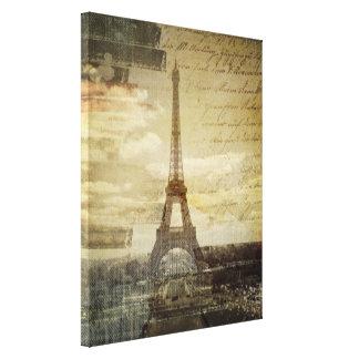 Le Français scripts Tour Eiffel vintage moderne de Toiles
