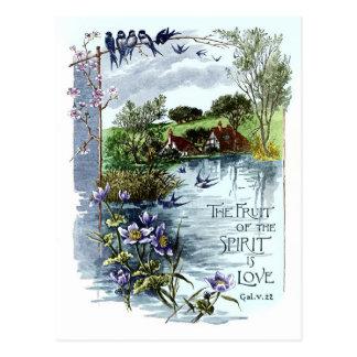 Le fruit de l'esprit est amour carte postale