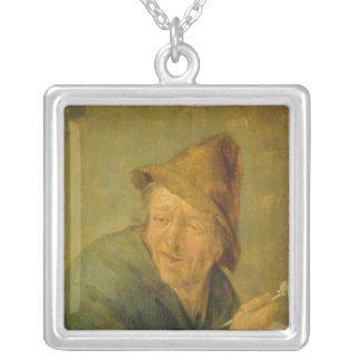 Le fumeur, 1640 pendentif carré