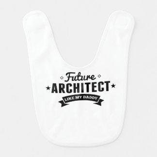 Le futur architecte aiment mon papa bavoir de bébé