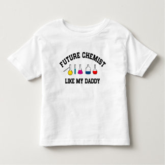 Le futur chimiste aiment mon papa t-shirt pour les tous petits