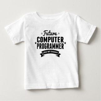 Le futur informaticien aiment mon papa t-shirt pour bébé