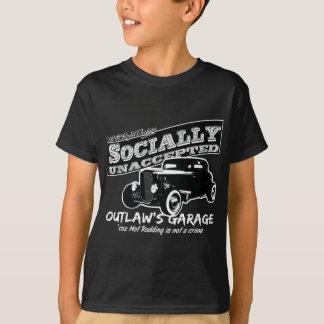 Le garage du hors-la-loi. Hot rod socialement T-shirt