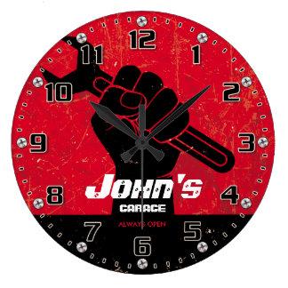 Le garage usine le Rétro-Style de Personalizable Grande Horloge Ronde