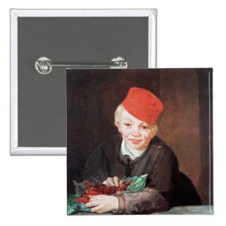Le garçon avec les cerises, 1859 badge carré 5 cm