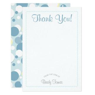 Le garçon bouillonne carte de remerciements de carton d'invitation 8,89 cm x 12,70 cm