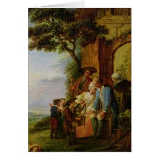 Le garçon de Savoie et son Marmot, 1783 Carte De Vœux