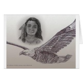 Le garçon qui a volé avec la carte d'Eagles