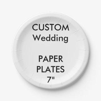 Le gâteau jetable de papier fait sur commande assiettes en papier
