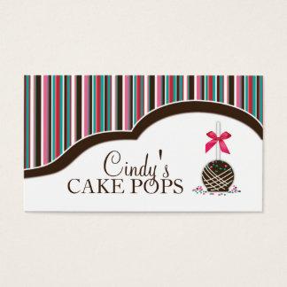 Le gâteau saute des cartes de visite