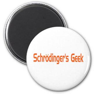 Le geek de Schrodinger Magnet Rond 8 Cm