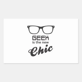 Le geek est le nouveau chic autocollant en rectangle