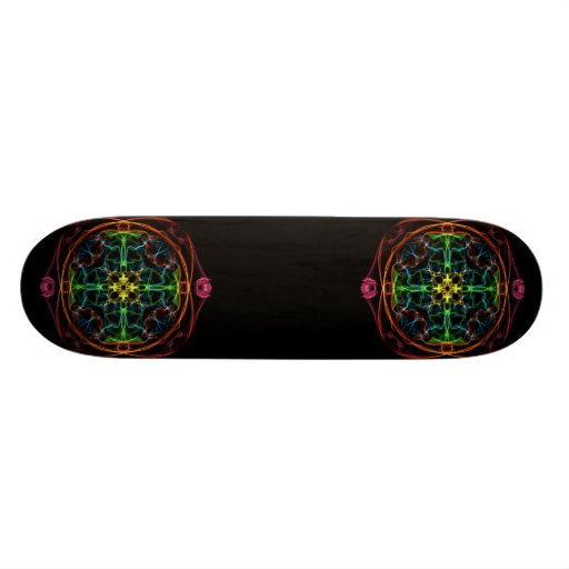 Le geek s'est levé plateaux de skateboards customisés
