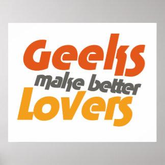 Le geeks fait de meilleurs amants poster
