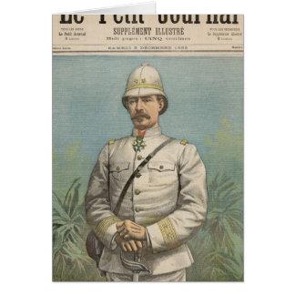 Le Général Alfred Amedee Dodds au Dahomey Carte De Vœux