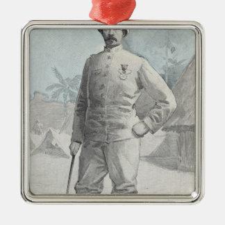 Le Général Alfred Amedee Dodds Ornement Carré Argenté