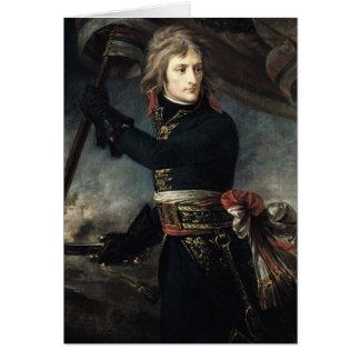 Le Général Bonaparte sur le pont chez Arcole Carte De Vœux