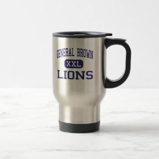 Le Général Brown - lions - haut - Dexter New York Tasse À Café