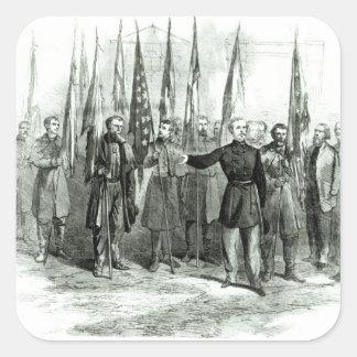 Le Général Custer Sticker Carré