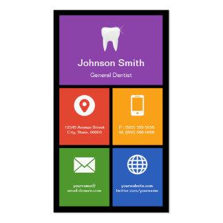 Le Général Dentist - tuiles colorées créatives Carte De Visite Standard